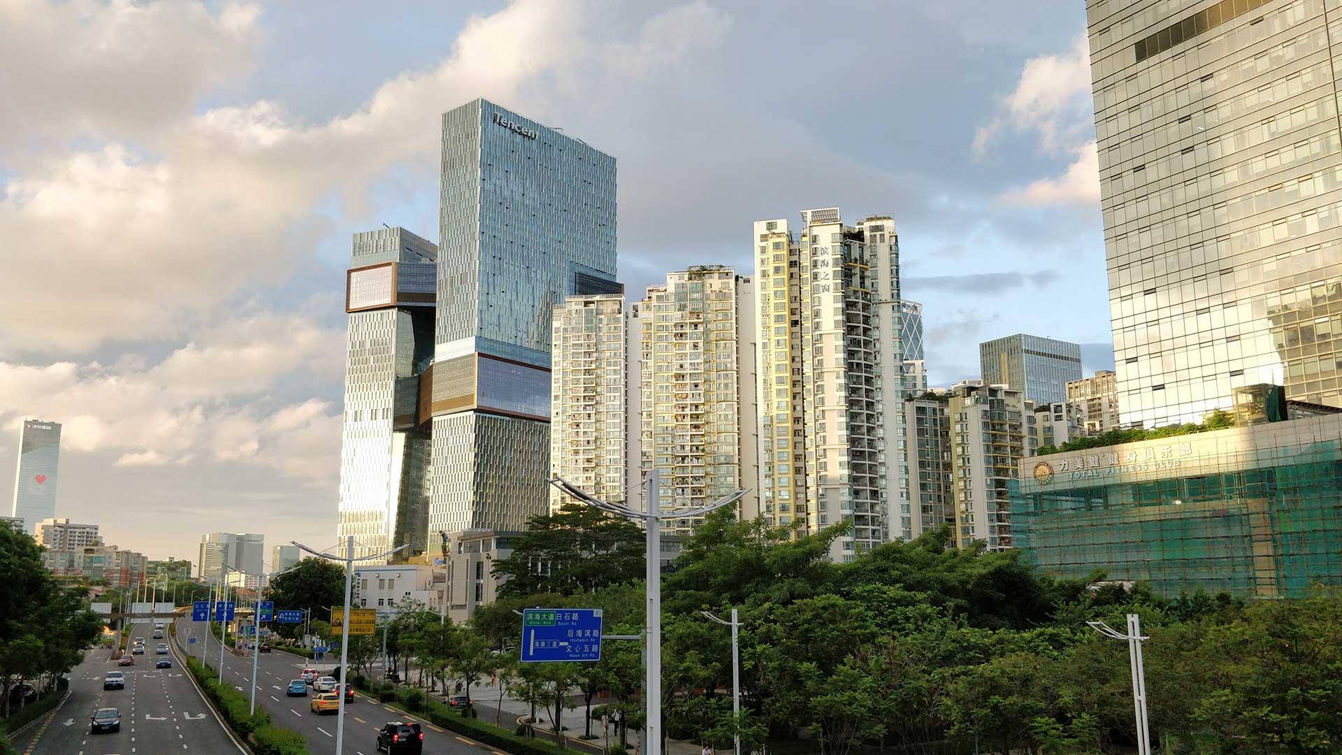 Der neue Hauptsitz von Tencent im Bezirk Nanshan