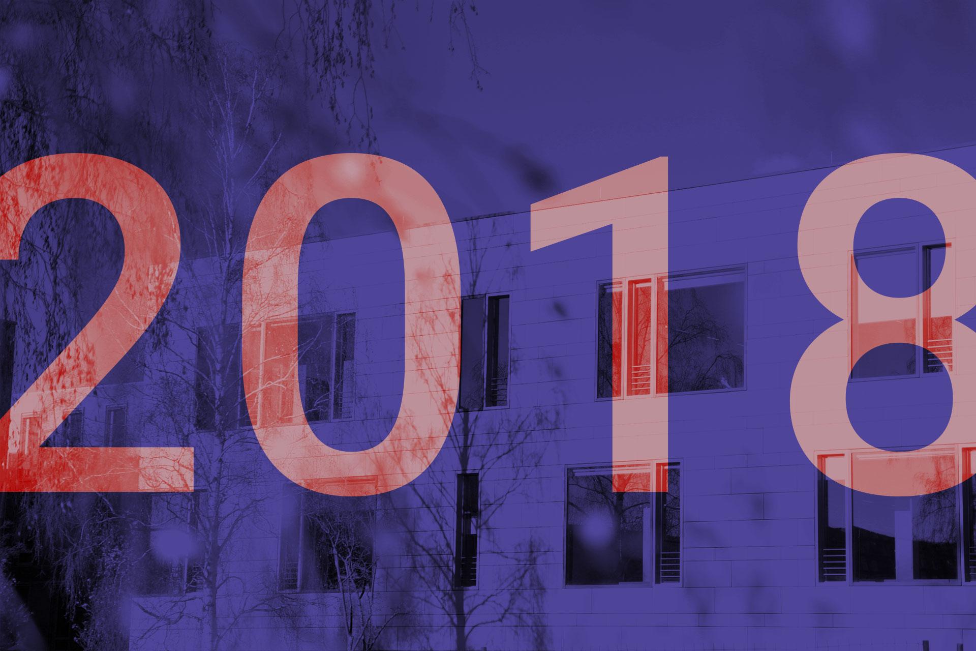 2018. Im Hintergrund ist das Hauptgebäude zu sehen